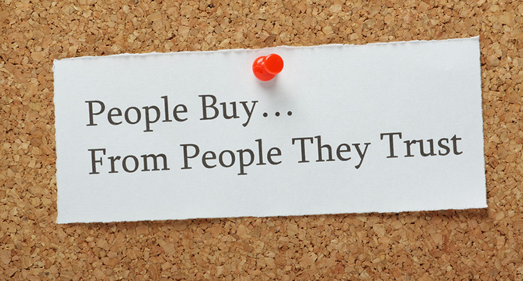 People Buy... From people they trust
